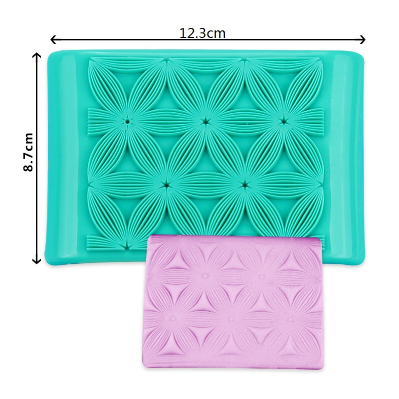 HB1093A Plastic 5petal flower shape press cake ice fondant mold