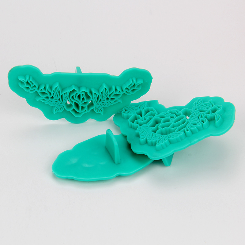 HB1094F Plastic 3pcs Flower&Leaf Shape Cake Fondant Press Mold set(Style F)