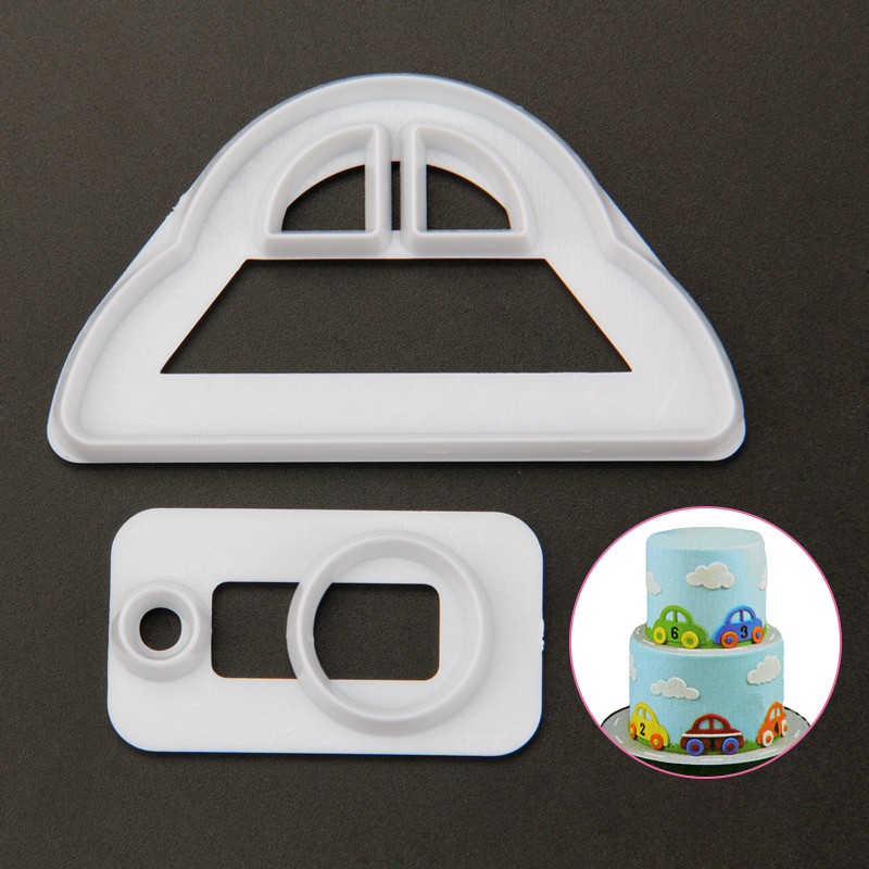 HB1095E Plastic Car 3D Cookie Cutters/Molds set