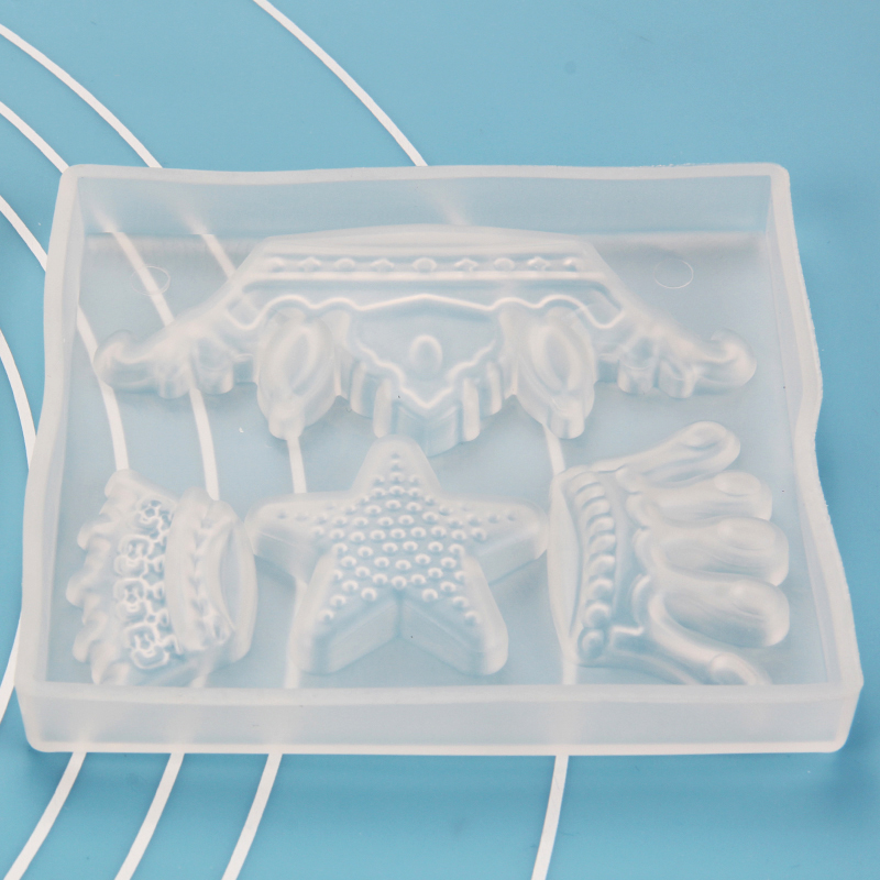 HB1097B Silicone Crown Fondant mold