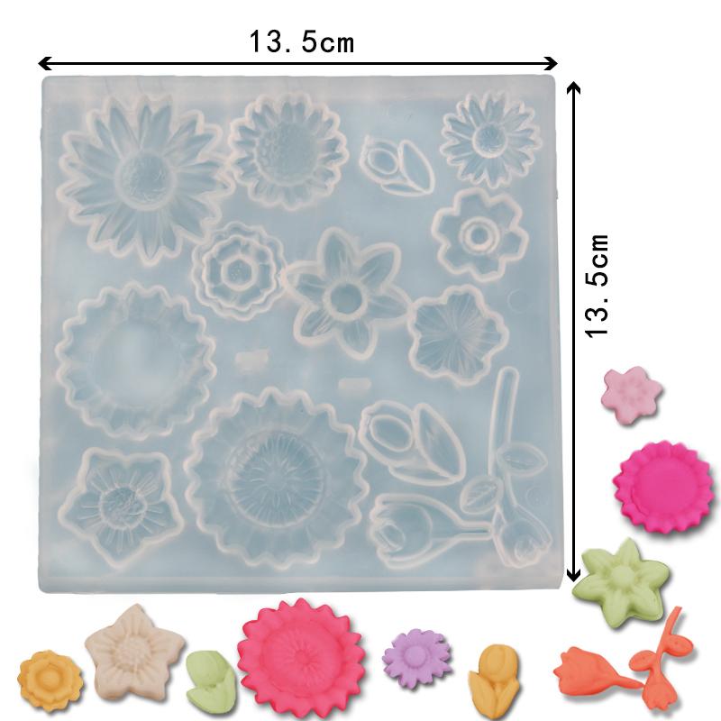 HB1097F Silicone Flower Pattern Fondant Mold