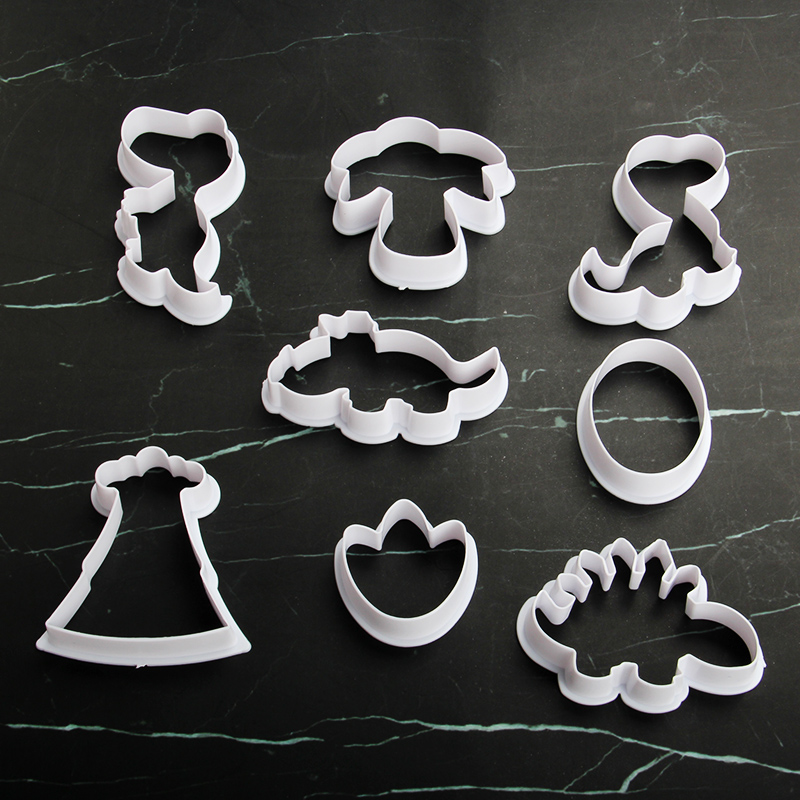 HB1101X Plastic Dinosaur Series Shapes Cake Fondant Press Molds set
