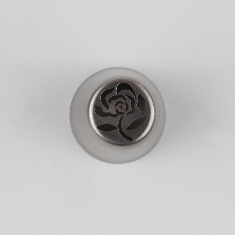 HBVD002 New Valentine's Day Theme Stainless Steel Cake Decorating Nozzle-Rose Flower Design