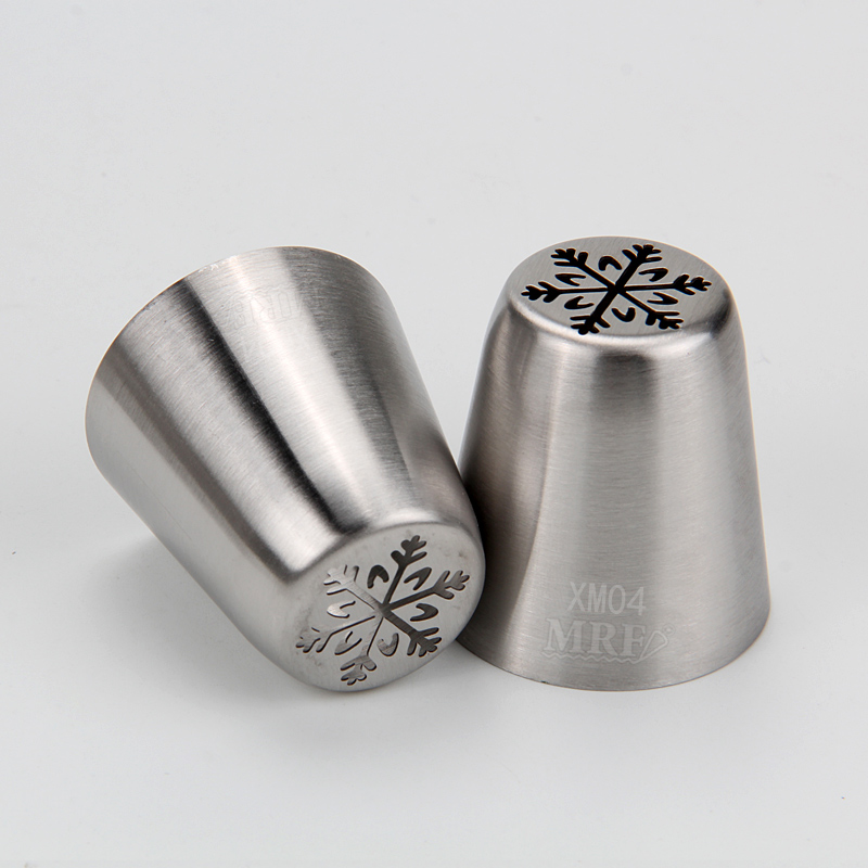 HBXM04 New Stainless steel Christmas Theme Russian Tips(Tree Snowflake)