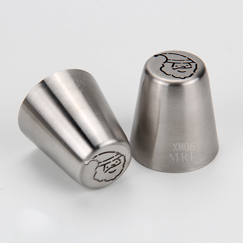 HBXM06 New Stainless steel Christmas Theme Russian Tips(Mustache Santa)
