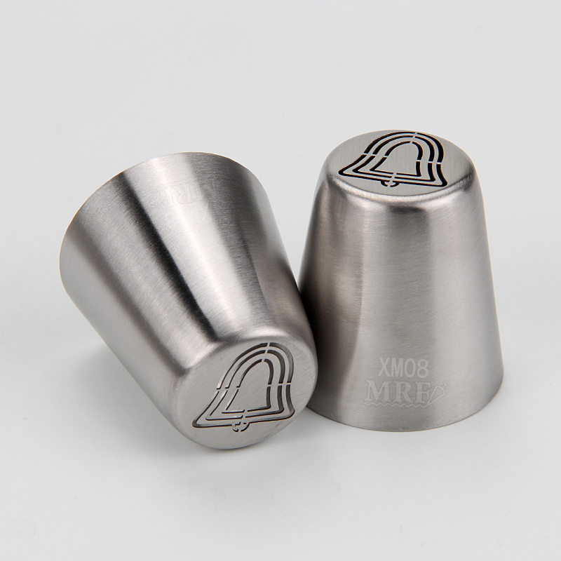 HBXM08 New Stainless steel Christmas Theme Russian Tips(Bell)