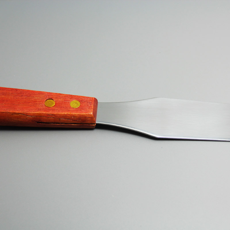 """JG0001 8"""" straight spatula with wooden handle baking tool"""