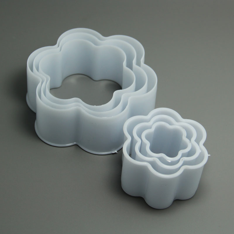 JG0147 6 pcs flower blossom cookie cutters set biscuit mold chocolate sugar mold