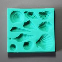HB0885 New Sea shell silicone cake decoration fondant mold