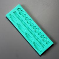 HB0918 Non stick flower strip cake decoration tool silicone mold