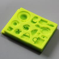 HB0793 LFGB high quality girls dressing silicone mold for cake fondant decorating tool