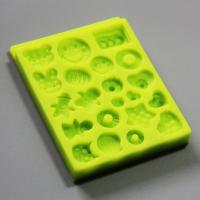 HB0787 SGS high quality smile face shape silicone mold for cake fondant decorating