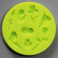 HB0808 cake decoration 3D silicone mold flower shape with high quality