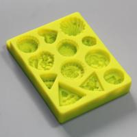 HB0786 SGS high quality flowers cake decoration silicone mold 3D
