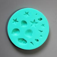 HB0841 Seashore silicone mold for cake decoration