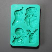 HB0869 Christmas theme silicone mold for kae fondant decoration