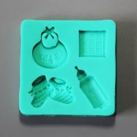 HB0890 Baby items silicone fondant mold,Silicone Cake Fondant Mold