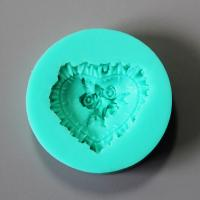 HB0857 Heart rose silicone mold for cake fondant decoration