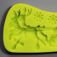 HB0814 christmas santa silicone mold for cake fondant decorating