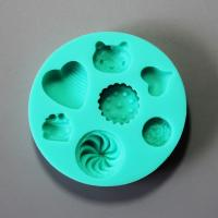 HB0847 Heart cat silicone mold for cake fondant decoration