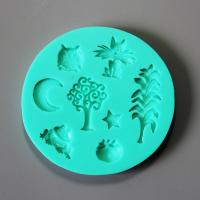 HB0843 Owl silicone mold for cake fondant decoration