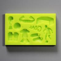 HB0821 football silicone mold for cake fondant decorating