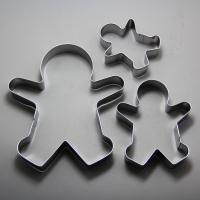 HB0981 stainless steel gingerbread man cookie cutter set