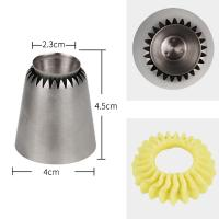 HBR004 New Design Stainless Steel Large Sultane Closed Star Cookie Icing Nozzle