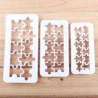 HB0177A Plastic 3pcs Geometric puzzle fondant embosser set