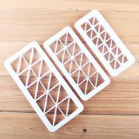 HB0177D Plastic 3pcs Right triangle fondant embosser set