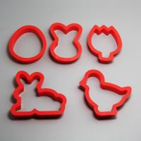 HB0198  Plastic 5pcs Easter shape cookie cutter set