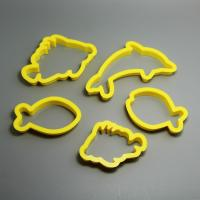 HB0201 pcs Plastic Fish Shape cookie cutter set cake decoration tools set