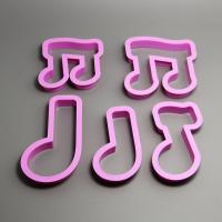 HB0203 5pcs Plastic Notes Shape cookie cutters set fondant mold