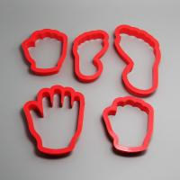 HB0204 5pcs Plastic Hands&Feet shape cookie cutters set