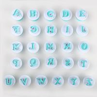 HB0215B New Plastic 26pcs Uppercase Cake Fondant Press Cutters set