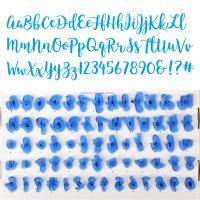 HB0215H Plastic  26pcs Lowercase and Uppercase Alphabet,10pcs Numbers,4pcs symbols cookie stamps set