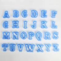 HB0215K Plastic New Design 26pcs Uppercase Alphabet cookie stamps set