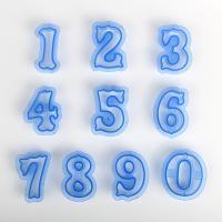 HB0216C Plastic 10pcs Numbers cookie stamps set