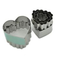 HB0229 12pcs heart shape cutters with fluted edge cookie cutters biscuit mold