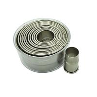 HB0293 12pcs round shape cutters with plain edge