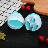 HB0310N 2pcs Plastic Oval Shape Cutout Cookie Stamps/Molds set