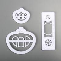 HB0311-3 Plastic Baby car shape cookie embosser mold set
