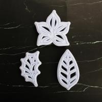 HB0311L Plastic Leaves Shape Fondant Press Molds Set