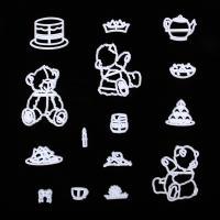 HB0311N Plastic Teddy Bears Series Shape Fondant Press Molds Set