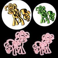 HB0311R Plastic Little Pony Shape Fondant Press Molds Set