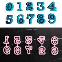 HB0311U Plastic Numbers Shape Fondant Press Molds Set