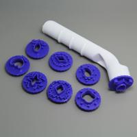 HB0328  Plastic Purple Pattern Fondant Decorative Punch Set plunger cutters set