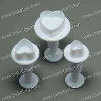 HB0353 Plastic Heart Shape Plunger Cookie Cutter Set