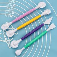 HB0359C 4pcs New Different Colors Plastic Cake Decorating Modeling Tools set