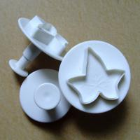 HB0361 Plastic 3pcs Large Maple shaped Cake Fondant Plunger Cutter set